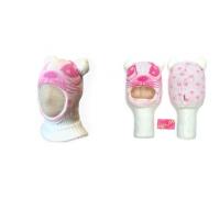 """Шапка-шлем KOLAD """"Кошка"""" светло-розовый, р.46-48"""