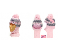 "Шапка-шлем KOLAD ""Орнамент"" светло-розовый, р.50-52"
