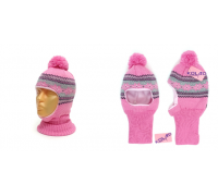 "Шапка-шлем KOLAD ""Орнамент"" розовый, р.50-52"