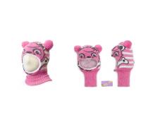 """Шапка-шлем KOLAD """"Панда"""" розовый  р.46-48"""