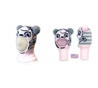 """Шапка-шлем KOLAD """"Панда"""" светло-розовый р.46-48"""