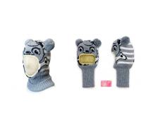 "Шапка-шлем KOLAD ""Панда"" серый р.46-48"
