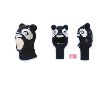 "Шапка-шлем KOLAD ""Панда"" темно-серый р.46-48"