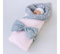 Одеяло на выписку КрошкинДом «Звездочки», 90, с бантом на резинке демисезонное, 3 цвета