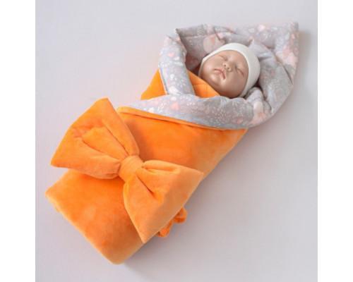 Одеяло на выписку КрошкинДом «Лисички», 90, с бантом на резинке летнее