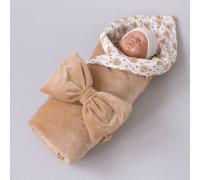 Одеяло на выписку КрошкинДом «Шоколадный мишка» летнее