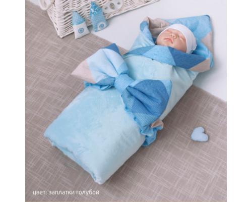 Одеяльце-плед КрошкинДом 90*90см с бантом на резинке
