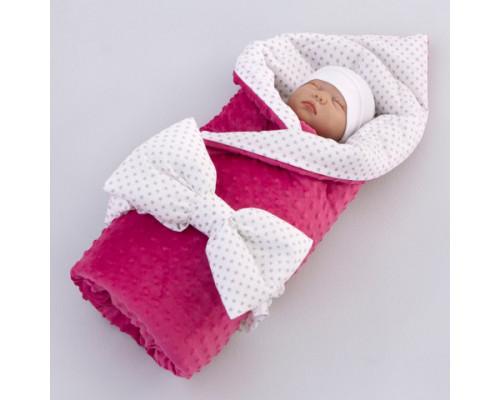 Одеяло на выписку КрошкинДом 90*90 см, с бантом на резинке демисезонное
