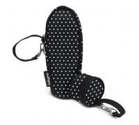 Термоупаковка универсальная + сумочка для пустышки (черная квадратики)