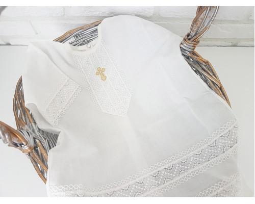 Крестильная рубашка батистовая JollyBaby