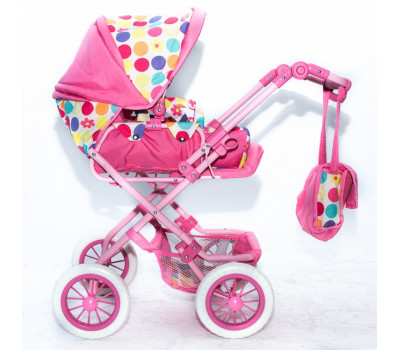 Кукольная коляска RT цвет тёмно-розовый 753