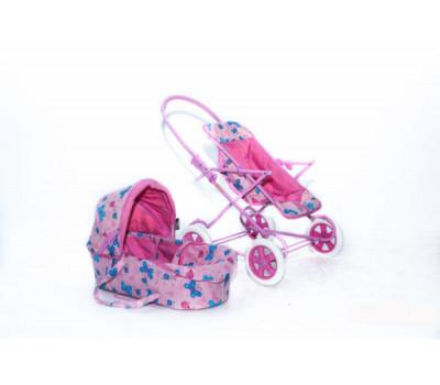 Кукольная коляска RT цвет розовый 9920