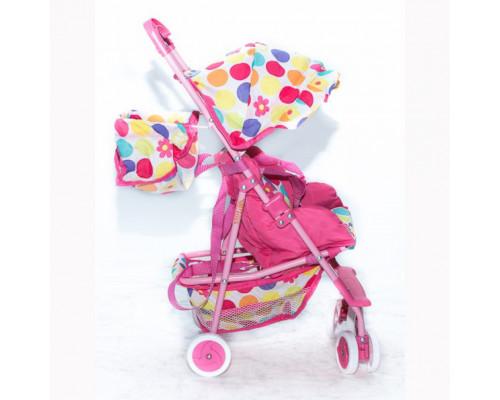 Кукольная коляска RT цвет темно-розовый 3500