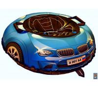Санки надувные Тюбинг Эксклюзив SUPER CAR BMW синий, диаметр 100 см