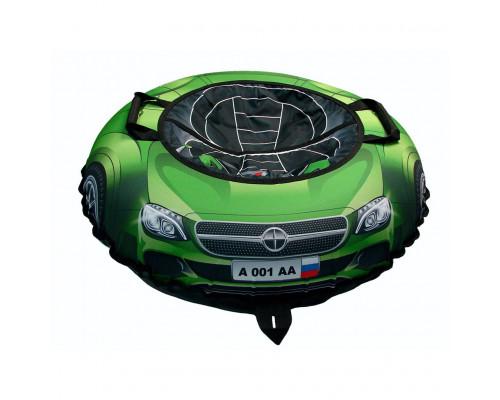 Санки надувные Тюбинг Эксклюзив SUPER CAR Mercedes зелёный, диаметр 100 см
