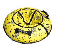 Санки надувные Тюбинг RT Смайлики жёлтые + автокамера, диаметр 105 см