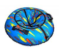 Санки надувные Тюбинг RT Краски на голубом + автокамера, диаметр 105 см