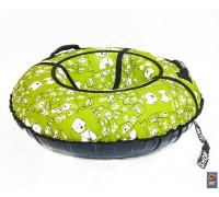 Санки надувные Тюбинг RT Собачки на салатовом, диаметр 105 см