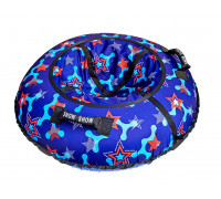Санки надувные Тюбинг RT Snow Star Blue + автокамера, диаметр 105 см