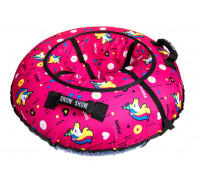 Санки надувные Тюбинг RT Единорог розовый + автокамера, диаметр 105 см