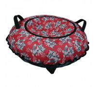 Санки надувные Тюбинг Oxford Принт Лисички на красном + автокамера, диаметр 110 см
