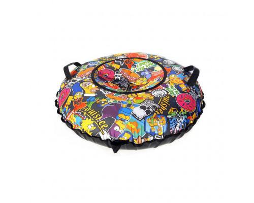 Санки надувные Тюбинг Oxford Принт Клоуны + автокамера, диаметр 110 см