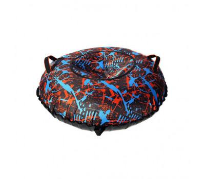Санки надувные Тюбинг Oxford Принт Абстракция + автокамера, диаметр 110 см