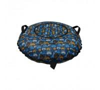 Санки надувные Тюбинг Oxford Принт Мячи на синем + автокамера, диаметр 110 см