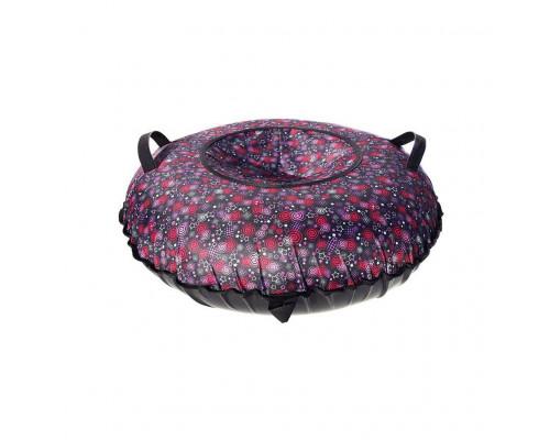 Санки надувные Тюбинг Oxford Принт Спирали и звёзды + автокамера, диаметр 110 см