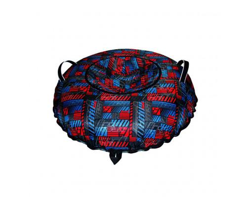 Санки надувные Тюбинг Oxford Принт PSI красно-синий + автокамера, диаметр 110 см