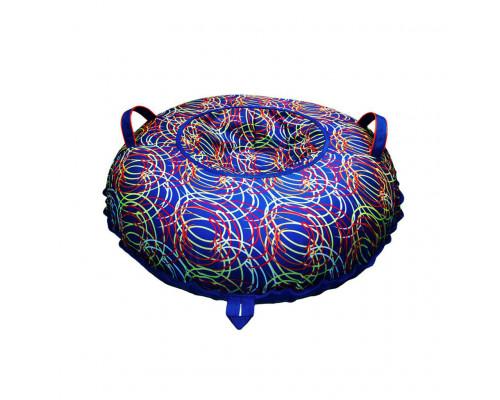 Санки надувные Тюбинг Oxford Принт Цветные спирали + автокамера, диаметр 110 см