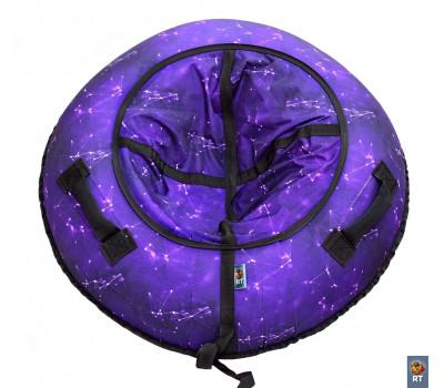 Санки надувные Тюбинг RT Созвездие фиолетовое + автокамера, диаметр 105 см