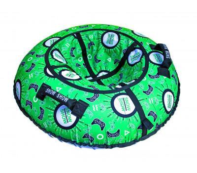 Санки надувные Тюбинг RT Джойстики на зелёном + автокамера, диаметр 118 см