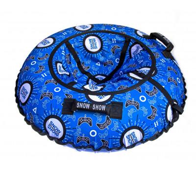Санки надувные Тюбинг RT Джойстики на синем + автокамера, диаметр 118 см