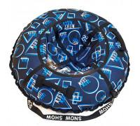Санки надувные Тюбинг RT Геометрия синий узор, диаметр 118 см