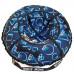 Санки надувные Тюбинг RT Геометрия синий узор, диаметр 105 см