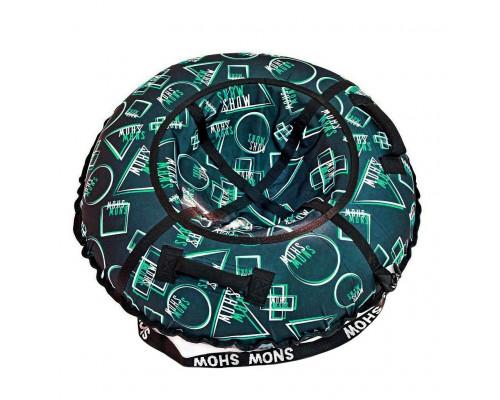 Санки надувные Тюбинг RT Геометрия зеленый узор, диаметр 118 см