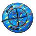 Санки надувные Тюбинг RT Краски на голубом + автокамера, диаметр 118 см