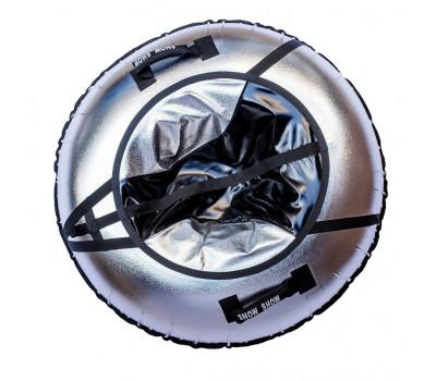 Санки надувные Тюбинг RT NEO чёрно-серый металлик, диаметр 105 см