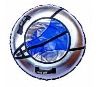 Санки надувные Тюбинг RT NEO сине-серый металлик, диаметр 105 см