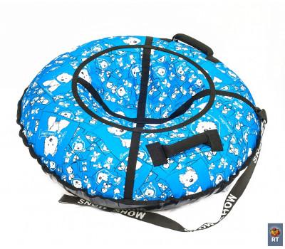 Санки надувные Тюбинг RT Собачки на голубом + автокамера, диаметр 118 см