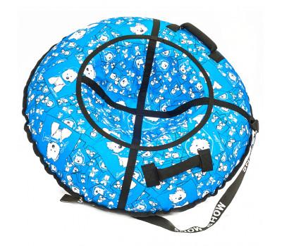 Санки надувные Тюбинг RT Собачки на голубом, диаметр 118 см