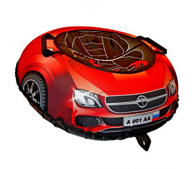 Санки надувные Тюбинг Эксклюзив SUPER CAR Mercedes красный, диаметр 100 см