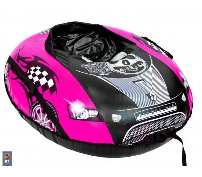 Санки надувные овальные Тюбинг МАШИНКА COMFORT Ferrari розовая
