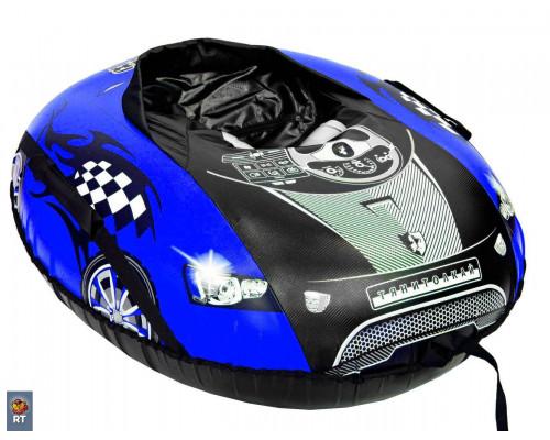 Санки надувные овальные Тюбинг МАШИНКА COMFORT Ferrari синяя