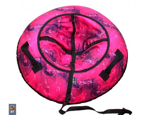 Санки надувные Тюбинг RT Созвездие розовое, диаметр 105 см
