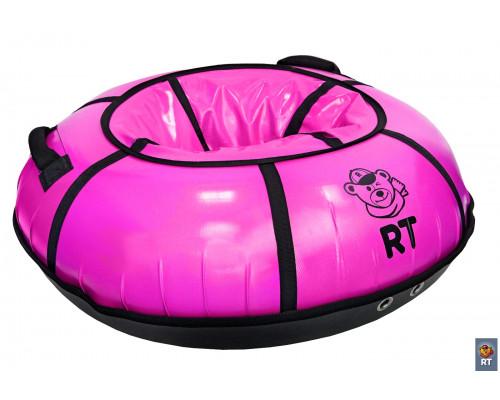 Санки надувные Тюбинг RT с пластиковым дном цвет розовый, диаметр 100 см
