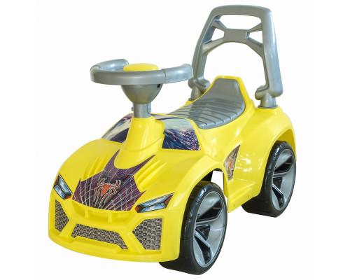 Каталка машинка Ламбо с клаксоном жёлтый ОР021