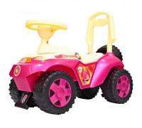 Каталка машинка Ориоша с клаксоном розовый ОР198