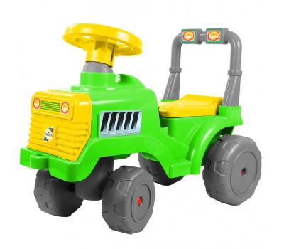 Каталка Трактор В зелено-желтый ОР931к